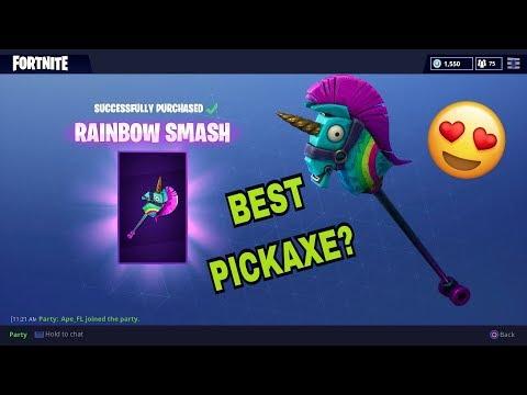 New Rainbow Smash Pickaxe Gameplay (Fortnite Battle Royale)