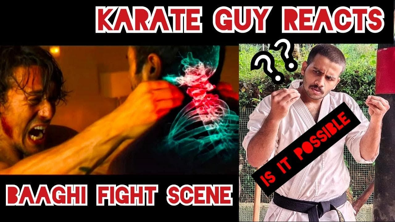 KARATE GUY REACTS TO TIGER SHROFF'S FIGHT SCENE