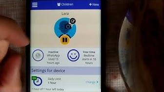 Kinder hassen diese APP Screen Time Zeit verwalten die Kinder an Handy oder Tablet verbringen