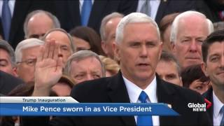 Trump inauguration: Mike Pence sworn in as Vice President