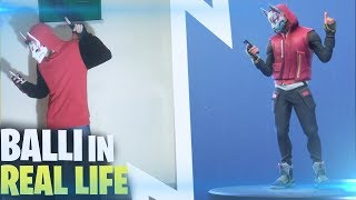 THE FORTNITE BALLS IN REAL LIFE ⛏️ (PARO) Fortnite Battle Royale - Crazy