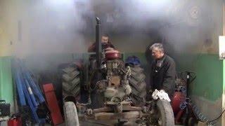 Zetor 50 Super - odpalenie - cold start