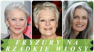 Dobrze fryzury dla starszych pań na cienkie i rzadkie włosy