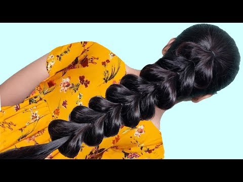 Best Hairstyles for College/party/Wedding || Everyday hairstyle 2019 for Long hair | HairStyle Girl thumbnail