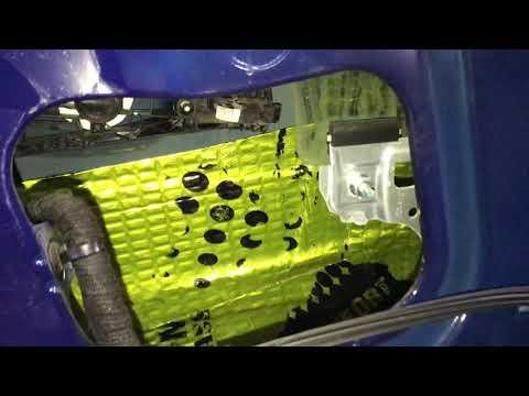 Opel Mokka звукоизоляция автомобиля, сделана в течении дня, без следов разбора салона