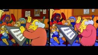 The Simpsons opening season 01 vs season 20