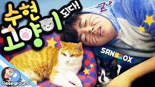 벌칙으로 고양이가 된 수현! 친구만나러 고양이 카페가다! [뜰로그: 수현 고양이 되다!] - Vlog - [잠뜰]