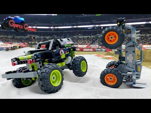 Epic Build, Jumps, and Crashes with LEGO Technic Monster Jam