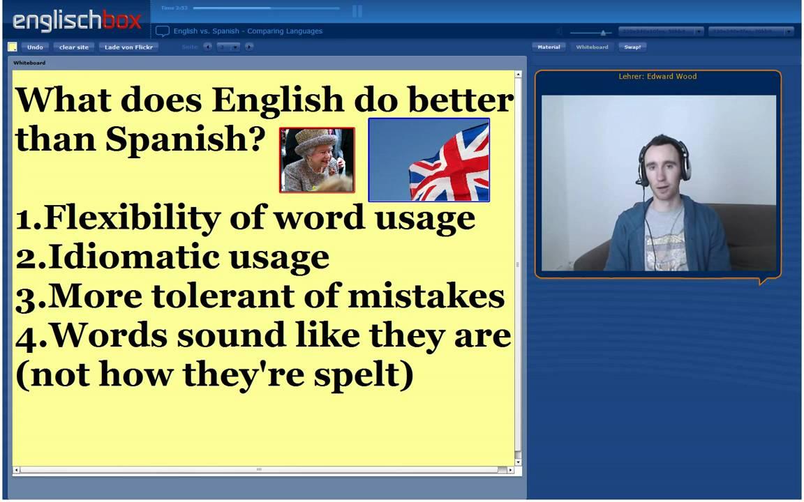 Spanish to english - English Vs Spanish Comparing Languages