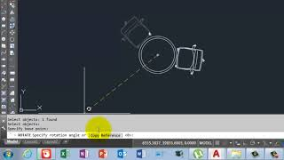 Rotating with Copy and Reference in AutoCad Tips & Tricks in Urdu/Hindi