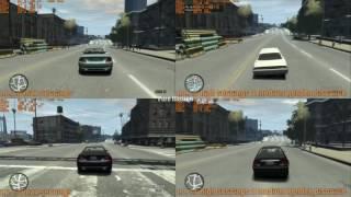 GTA IV 1.0.7.0 vs 1.0.4.0 Comparison performance on dual core cpu