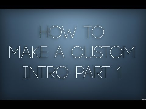 How To Create A Custom Intro With Cinema 4D Part 1