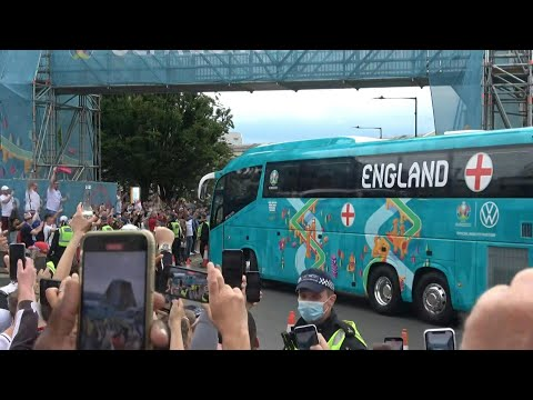 Euro 2020: England team bus arrives at Wembley ahead of final   AFP