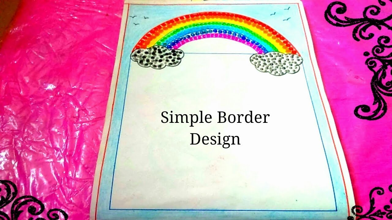 Border design for project file simple how to decorate chart paper decor also rh youtube