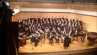 brass choir sanctus and hosanna