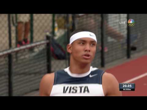 Olympic Track And Field Trials | 18-Year-Old Michael Norman Beats Tyson Gay In 200m Prelim