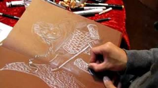 Francis Manapul Sketching : Album shop, 12 novembre 2009 (FRANCE)