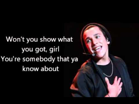 Austin Mahone Ft. Chris Brown - Lady in a Glass Dress Lyrics