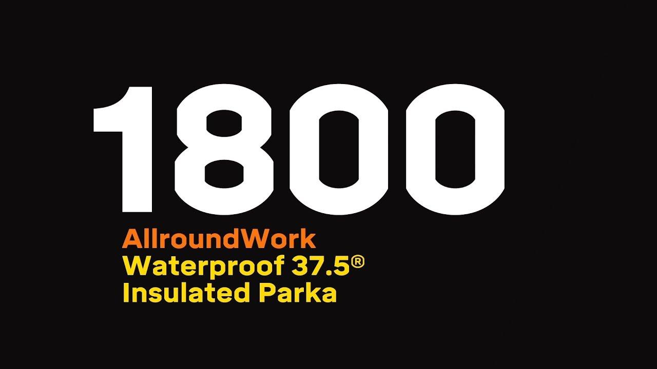 Vanntett 37.5® parkas herre Snickers Workwear 1800 ~2 veis