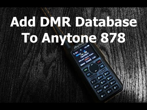 Load Entire DMR User Database onto Anytone 868 and 878