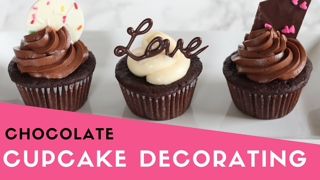 Easy Chocolate Cupcake Decorating Valentine s Day - YouTube