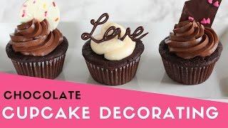 Easy Chocolate Cupcake Decorating   Valentine's Day