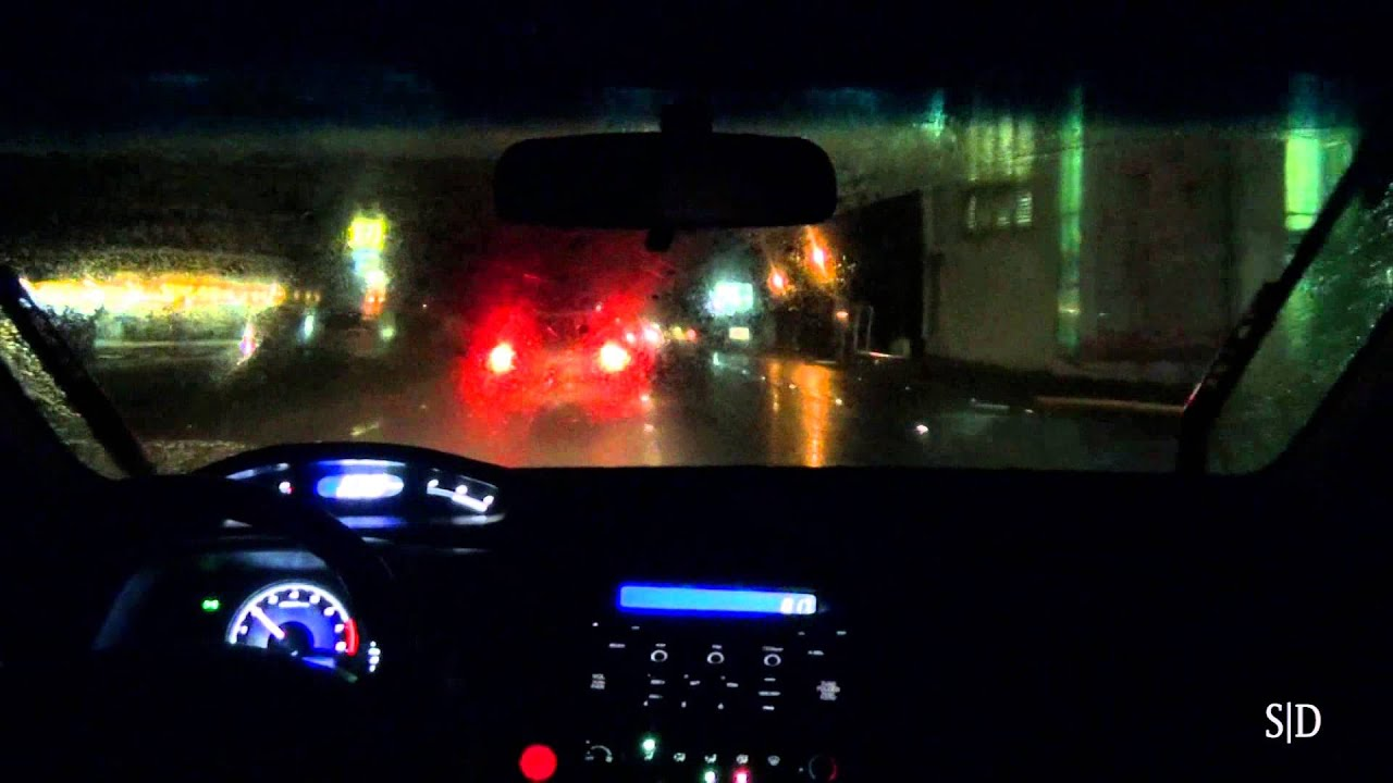 Car Window Wallpaper Driving Around In A Rainy Night Part 1 2 Youtube
