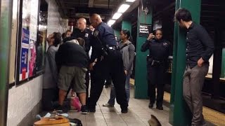 Subway Musician Arrested & Manhandled by NYPD, Guitar Tossed