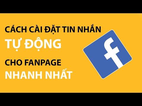 Cách cài đặt tin nhắn tự động cho Fanpage   Tự học digital marketing