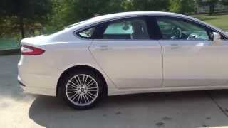 HD VIDEO 2015 FORD FUSION SE PEARL WHITE USED ECOBOOST FOR SALE SEE WWW SUNSETMOTORS COM