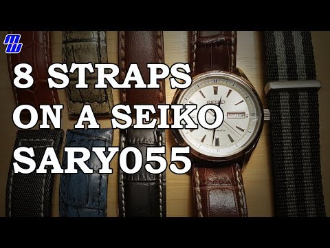 8 Affordable Straps on a Seiko SARY055