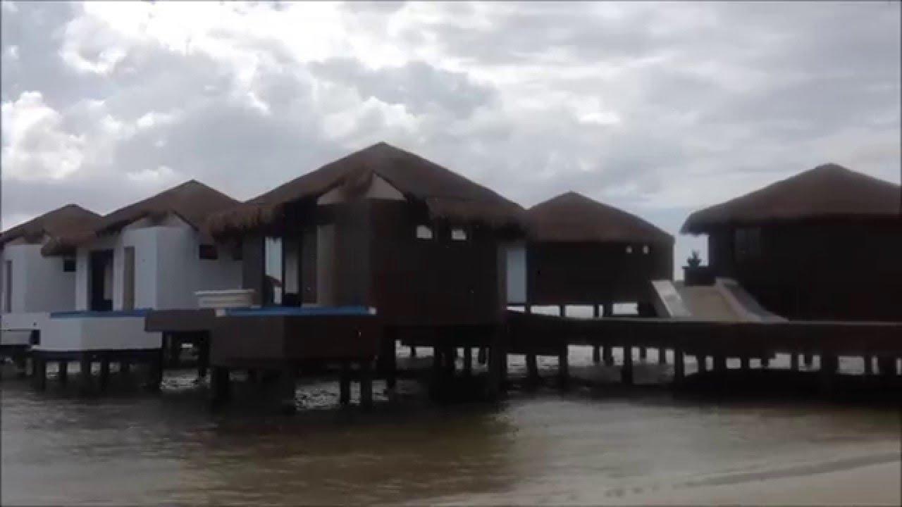 El Dorado Maroma Beach   Mexico, Over Water Bungalow Construction Update    YouTube