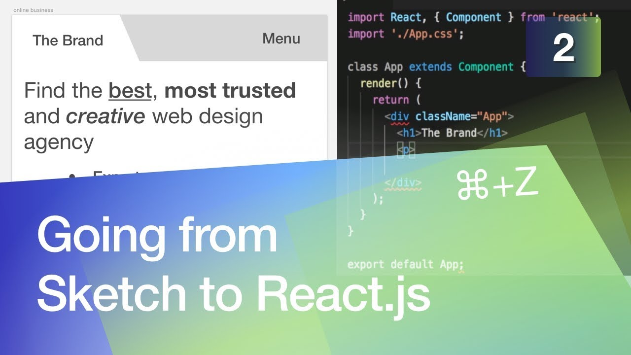 Going from Sketch to React js #2 Building an Online Business