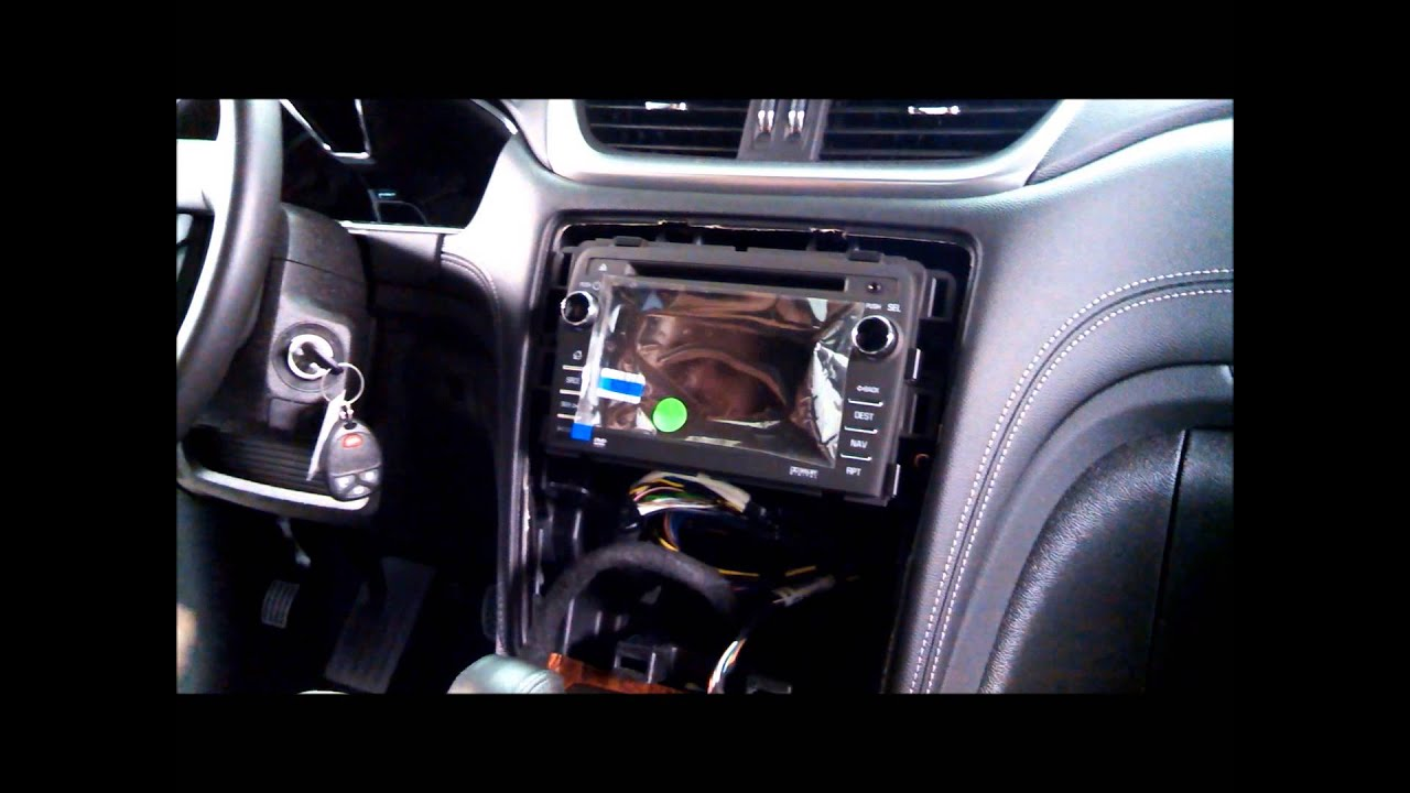 chevy aftermarket radio wiring how to install mylink in chevrolet traverse youtube  how to install mylink in chevrolet traverse youtube