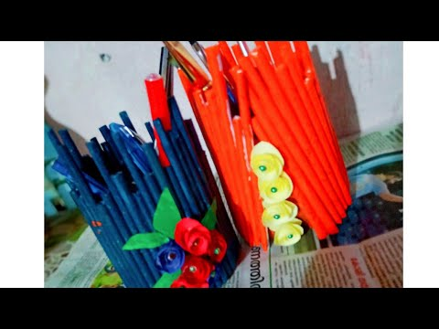 Waste bottles and paper crafts ideas/Home Decoration ideas
