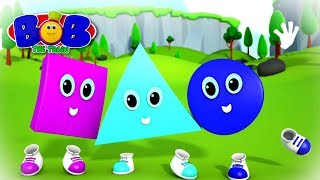 Shapes Go Rolling By   Shapes Song   Preschool Learning Videos for Babies   Kids Nursery Rhymes
