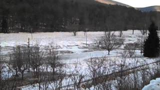 ice jam on pine creek lycoming county pa 3-13-14