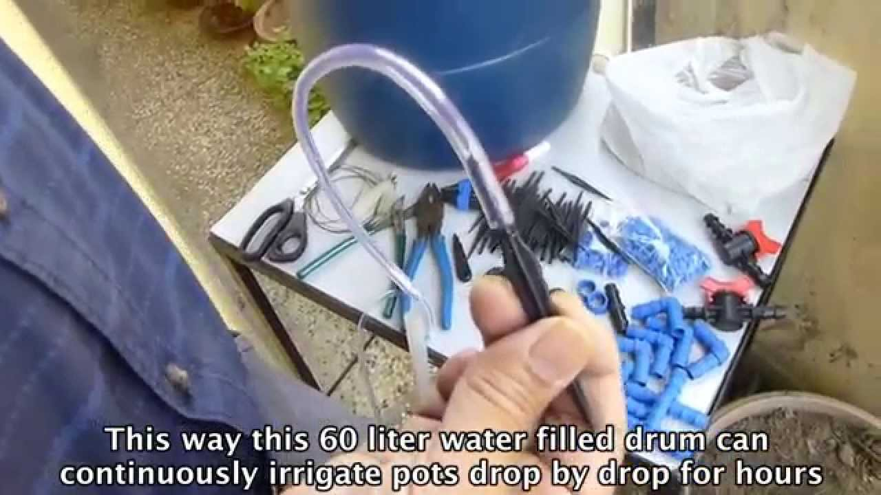 Self Watering Gravity Fed Drip System For Home Garden