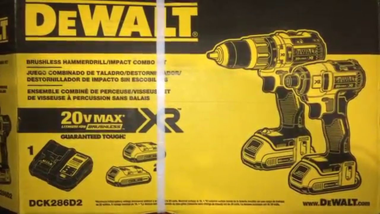 Dewalt 20v max XR impact and hammer drill unboxing YouTube