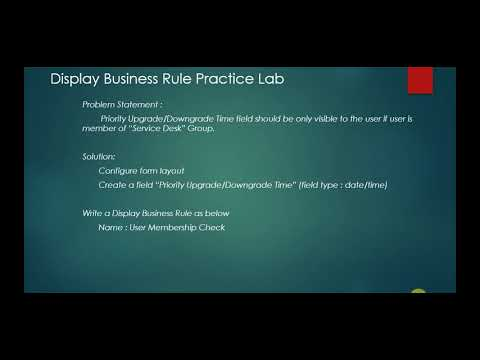 Display Business Rule [ServiceNow]