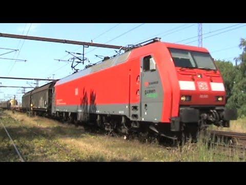 Grenzbahnhof Padborg,2 Sechsachser Baureihe EG von DBS Green Cargo,2x DSB IC3 Gummischnauze,MRCE 189