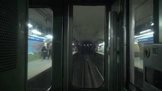 Buenos Aires地下鉄C線 名古屋市交通局5000形 全区間前面展望(Retiro→Constitución)