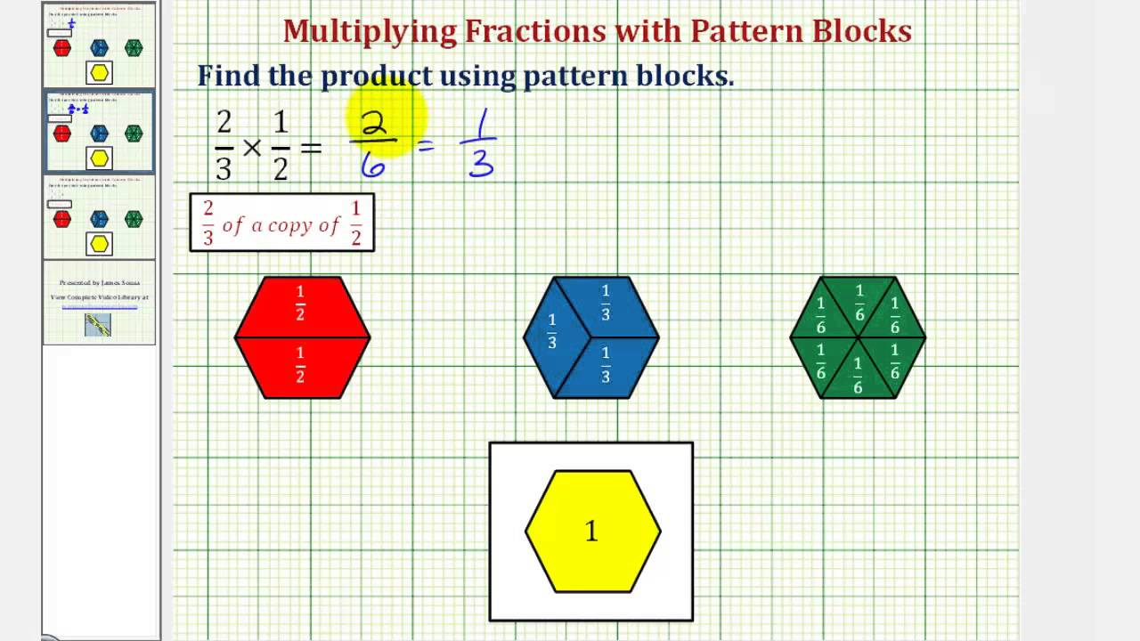Pattern Block Fractions Custom Decorating Design