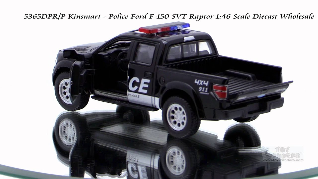 sc 1 st  YouTube & 5365DPR P Kinsmart Police Ford F 150 SVT Raptor 1 46 - YouTube markmcfarlin.com