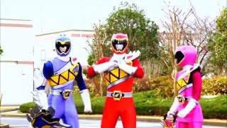 Power Ranger Dino Charge | Modo Armadura y Primera batalla con los zords