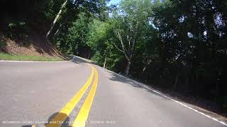 Fort Mountain in Georgia on Triumph Speed Triple. Recorded on Innovv K5.