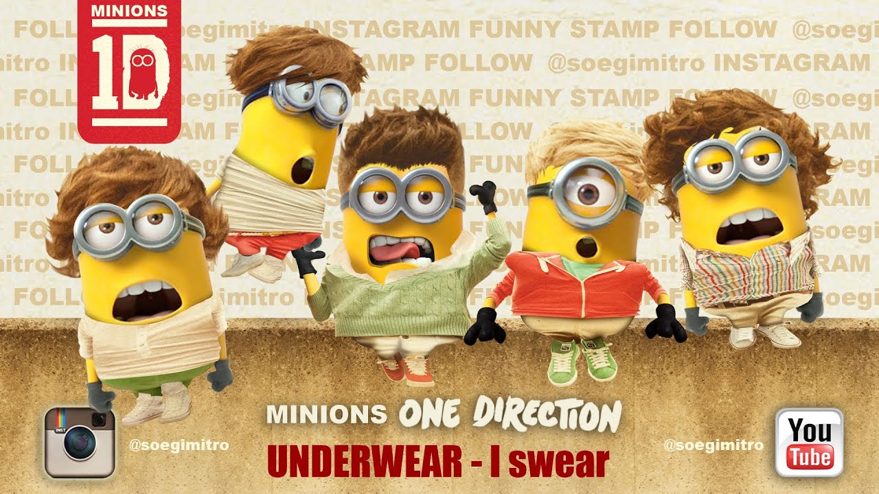 Minions One Direction Despicable Me 2 UNDERWEAR