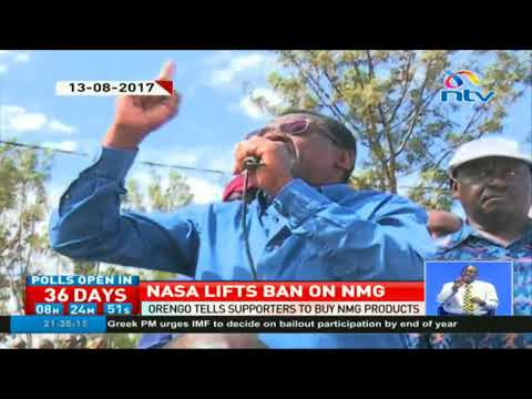 James Orengo tells supporters to buy NMG products