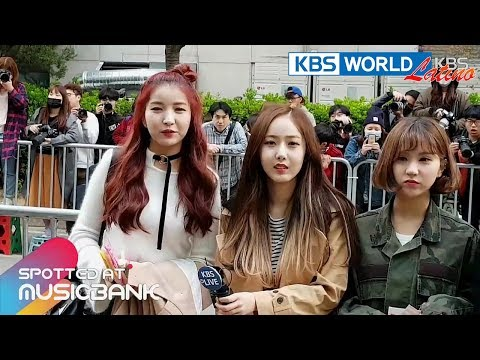 [Spotted at Musicbank] 뮤직뱅크 출근길 - EXID, MONSTA X, GFRIEND, PRISTIN [2017.04.14] - 동영상