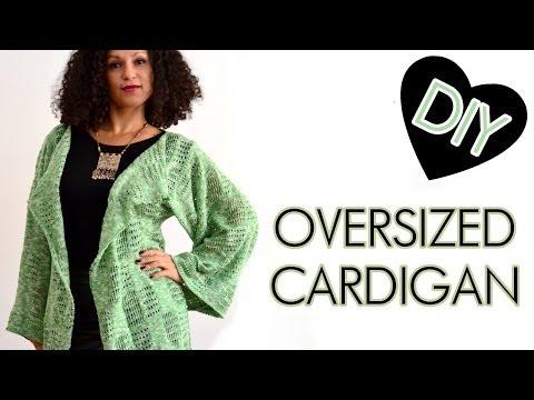 DIY Anleitung Oversized Cardigan, lockere Strickjacke selber machen - Nähen für Anfänger
